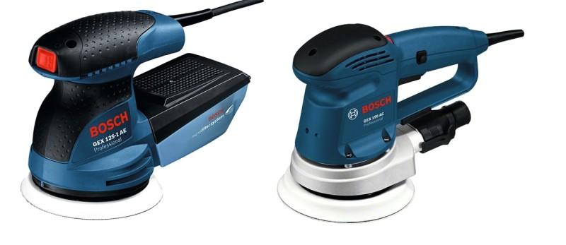 Эксцентриковые сетевые полировальные машинки Bosch