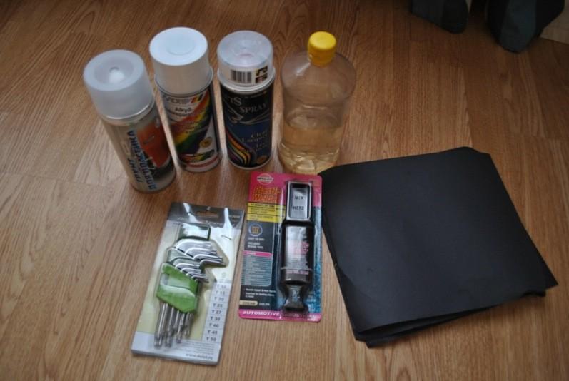 Материалы для покраски салона