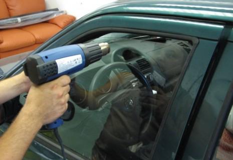 Применение фена для тонирования авто