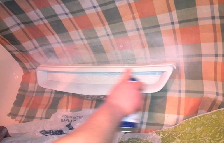 Покраска облицовки радиатора своими руками