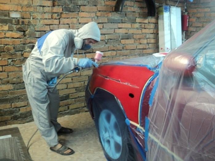 Покраска авто с помощью краскопульта