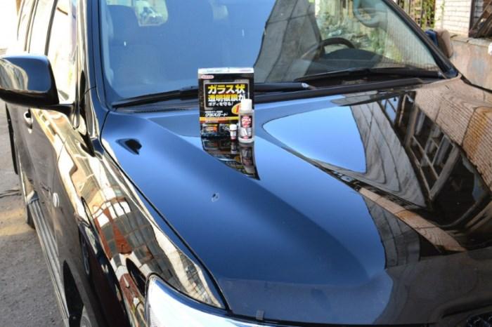 Полироль «жидкое стекло» на капоте авто