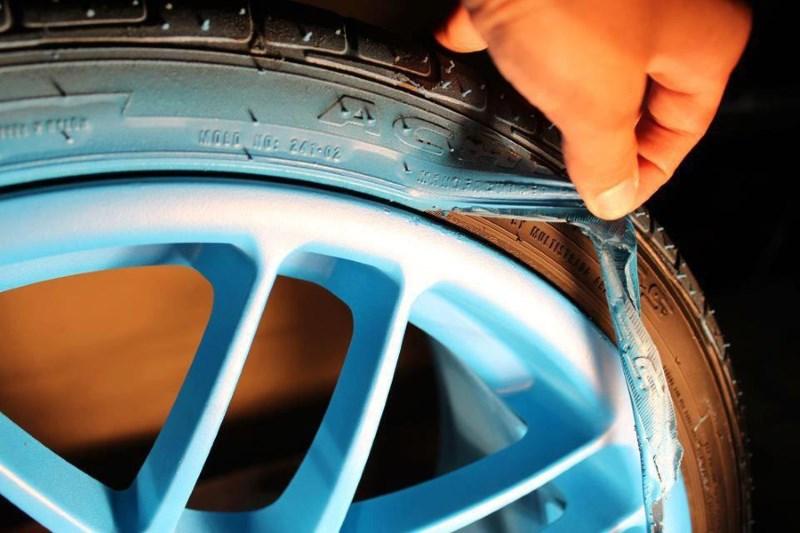 Покраска диска резиновой краской