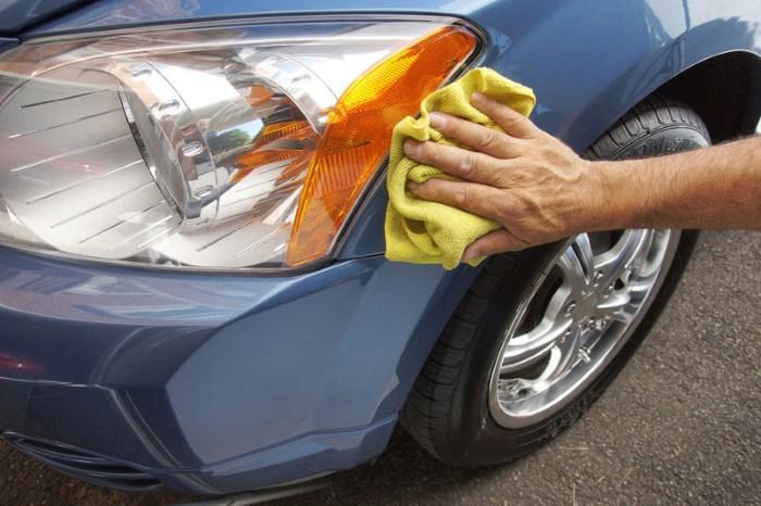 Протирание кузова после мойки авто