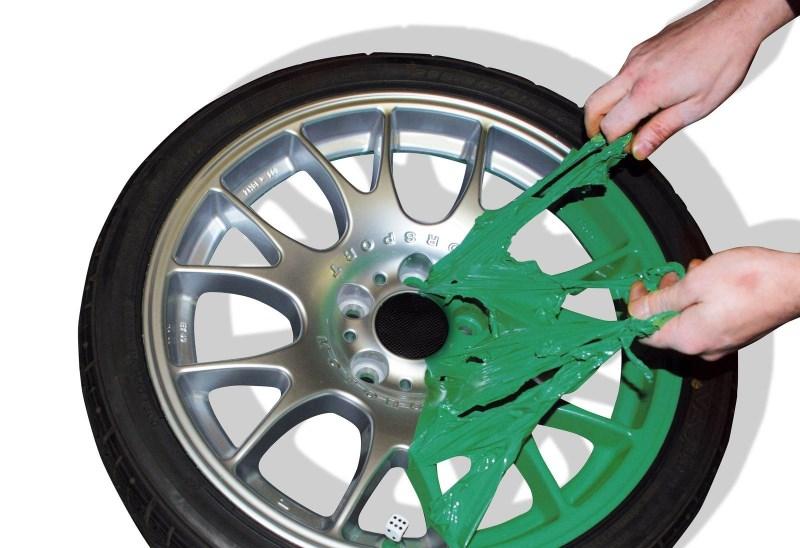 Снятие резиновой краски с колесного диска