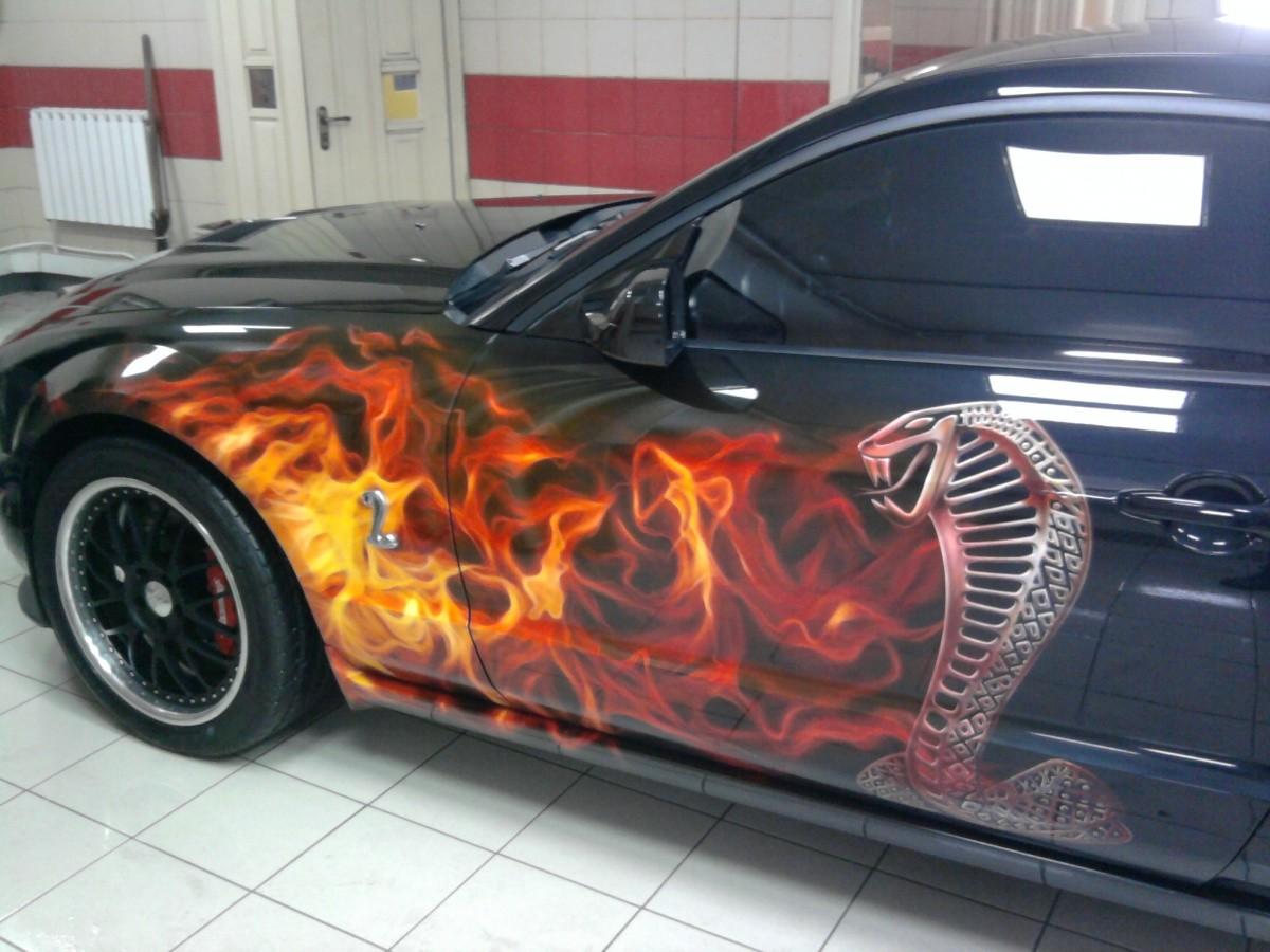 Покраска машины с рисунками