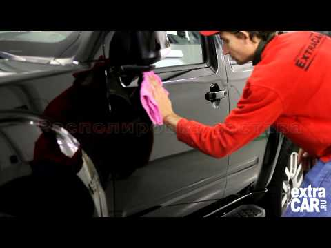 Полировка черного автомобиля своими руками видео смотреть