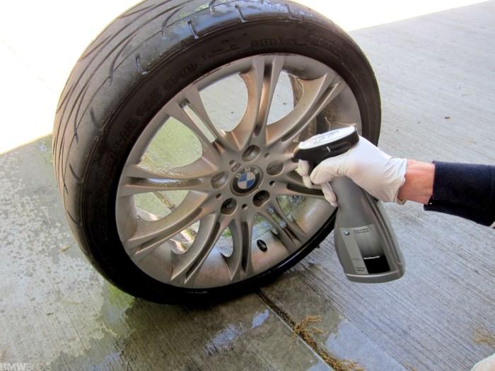 Очищение колесного диска