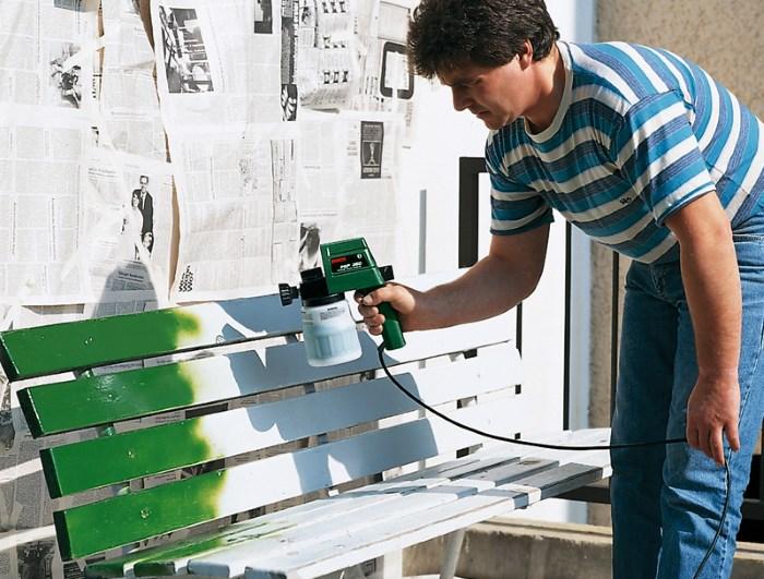 Бытовое применение краскораспылителя Bosch PSP 260