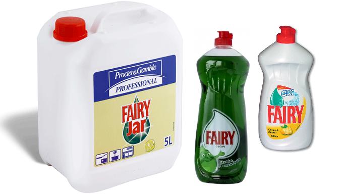 Моющее средство Фейри разных объемов