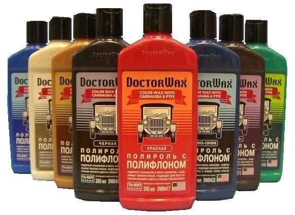 Цветные жидкие полироли Доктор Вакс