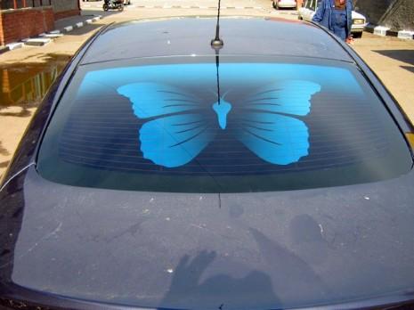 Тонировка на заднем стекле автомобиля