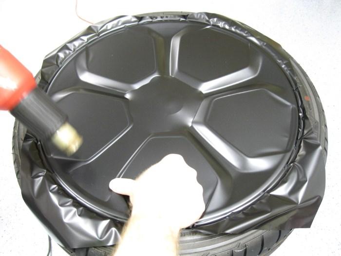 Оклейка диска пленкой
