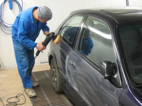 Полировка машины после покраски