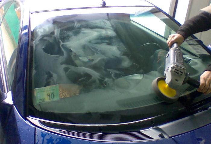 Полировка автомобильного стекла