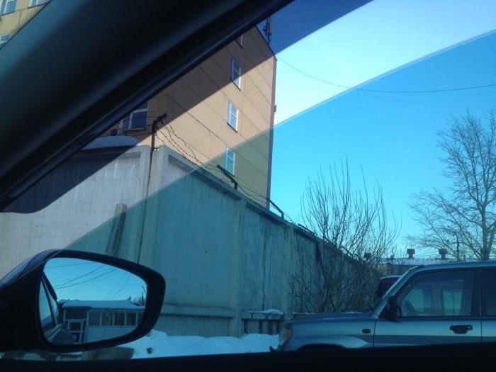 Тонировка авто, вид изнутри