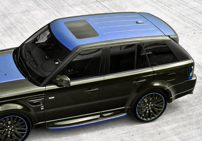 Синяя крыша автомобиля