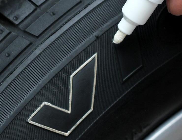 Маркер-краска для шин