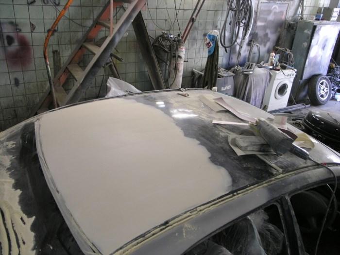 Как выправить крышу автомобиля своими руками