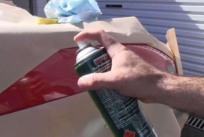 Как покрасить бампер из баллончика своими руками