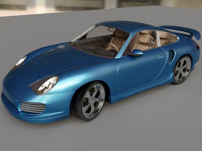 Автомобиль в цвете голубой металлик