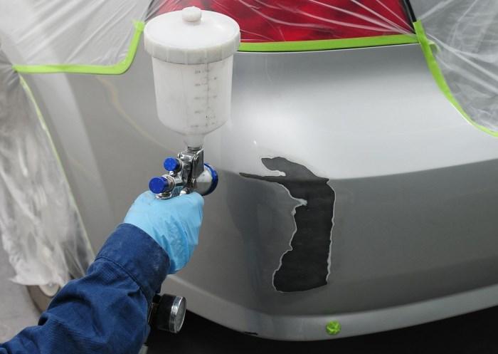 Частичная покраска отдельных участков авто своими руками 42