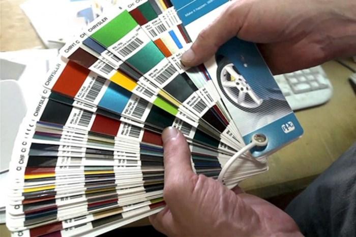 Подбор цвета краски для авто