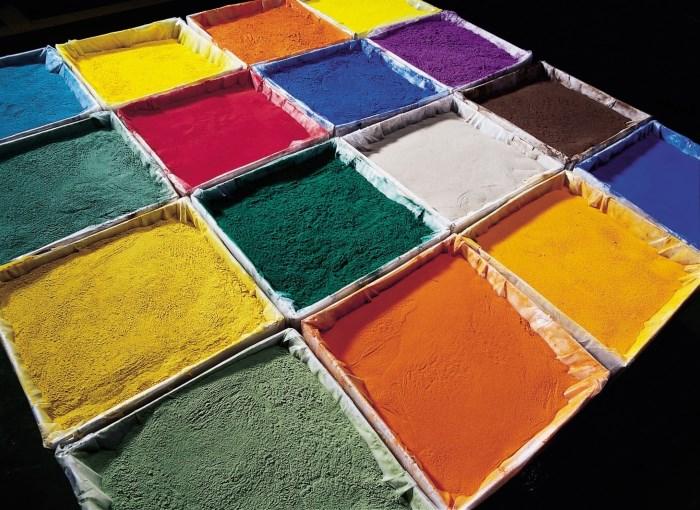 Разные цвета порошковой краски