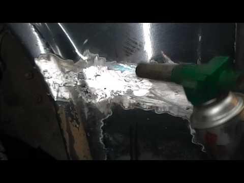 Лужение кузова автомобиля своими руками видео