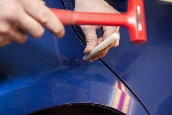 Приспособление для удаление вмятин без покраски своими руками 45