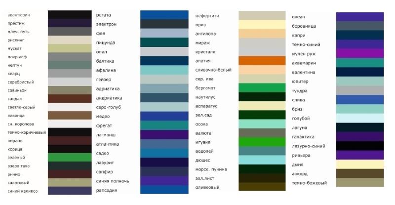 Некоторые цвета акриловой краски