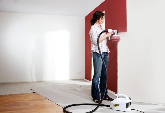 Покраска стен краскопультом Wagner W665