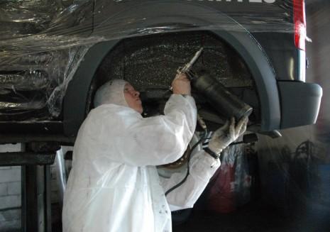 Обработка автомобильного днища
