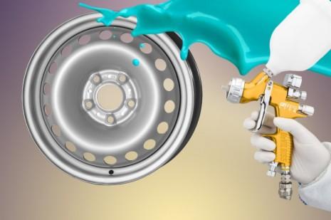 Покраска стальных дисков
