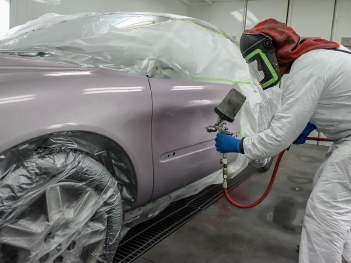 Покраска авто акриловой краской