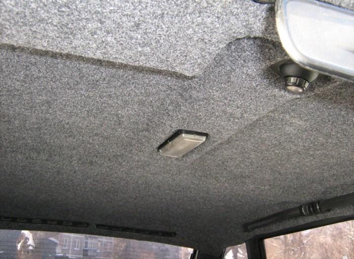 Потолок авто из карпета