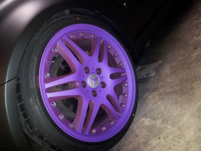 Жидкая резина на дисках авто