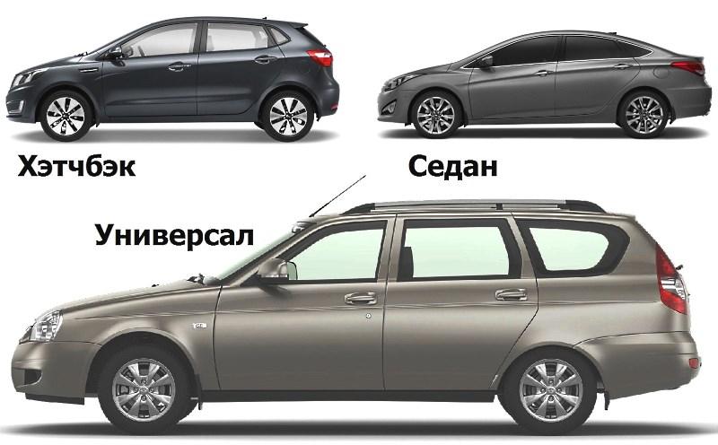 Типы кузова легковых авто