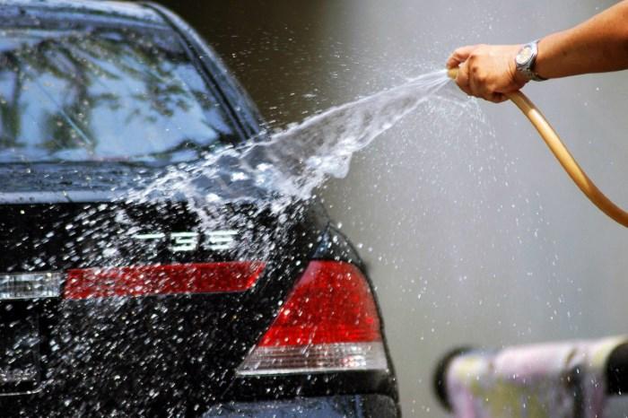 Ополаскивание авто после мытья