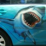 Хищница морских глубин: варианты аэрографии акула и порядок ее рисования
