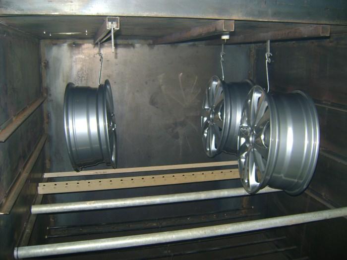 Сушка дисков в печи полимеризации