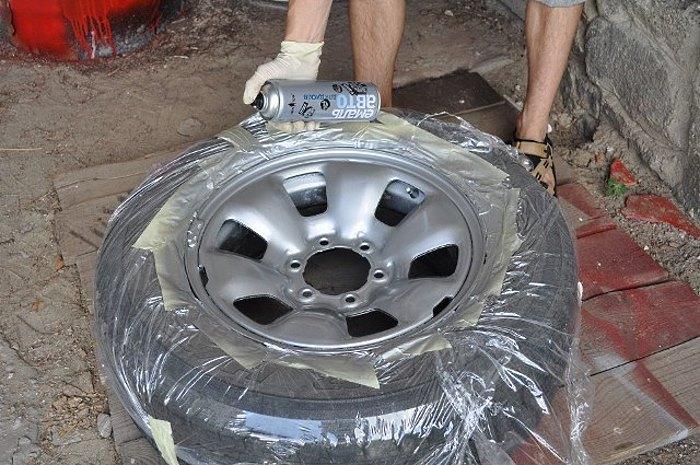 Можно ли красить диски авто акриловой эмалью